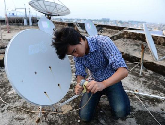 số hóa truyền hình qua vệ tinh