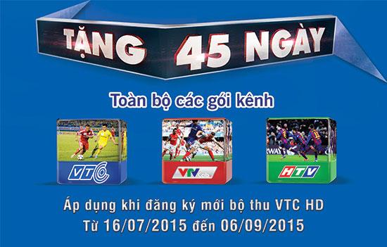 45 ngày miễn phí truyền hình vệ tinh VTC