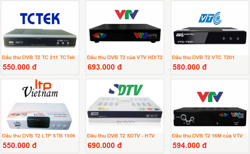 Gia dau thu ky thuat so DVB T2